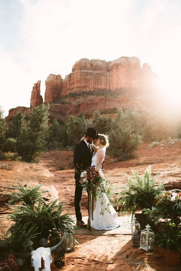 Sedona Red Rock Elopement Wedding Ideas
