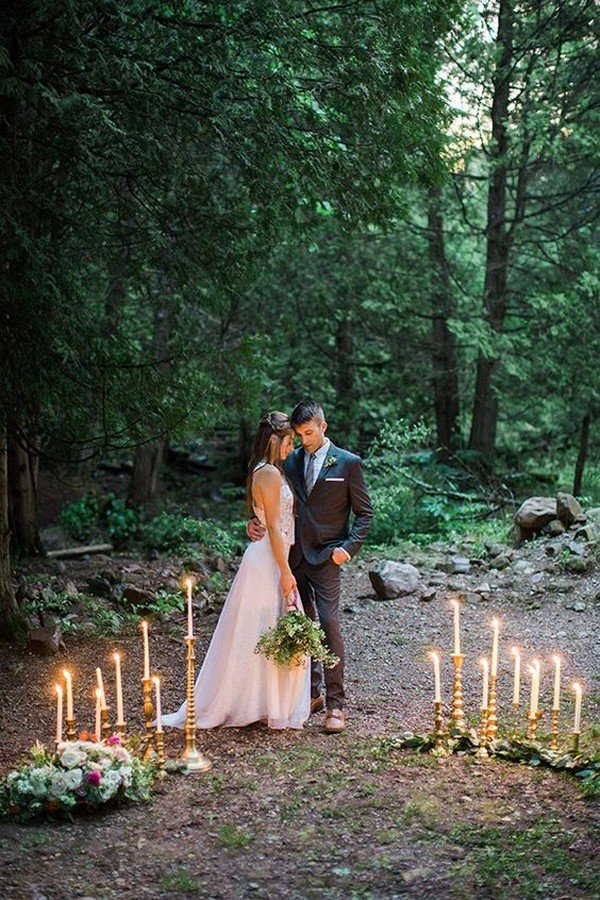 mossy glen elopement wedding inspiration