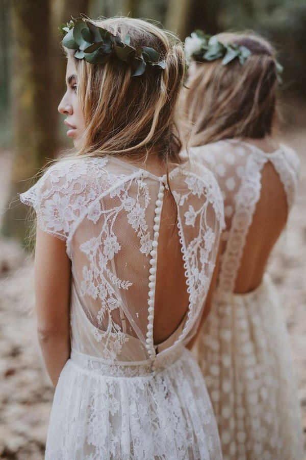 pretty boho wedding dress