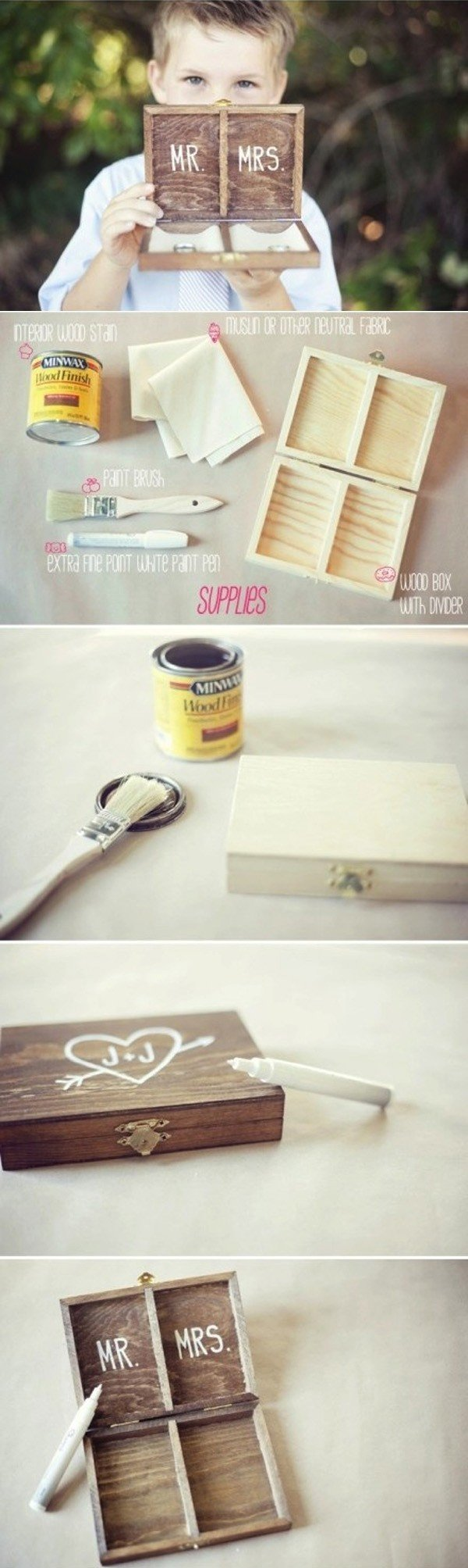 diy ring bear box wedding ideas