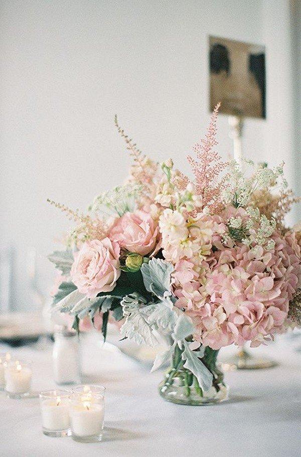 elegant dusty pink wedding centerpiece ideas