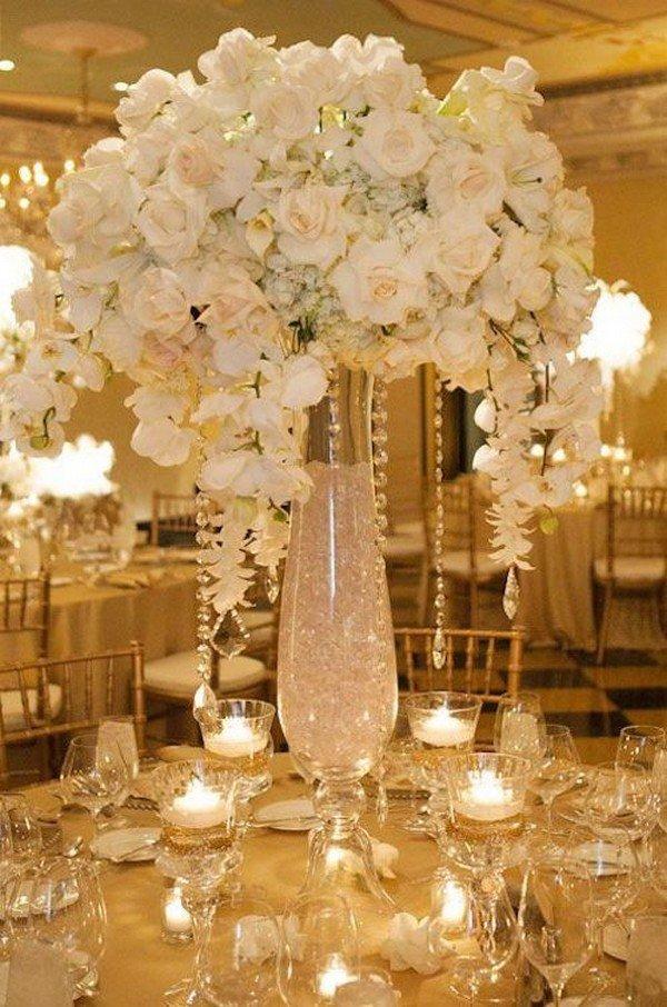 elegant glamorous wedding centerpiece ideas