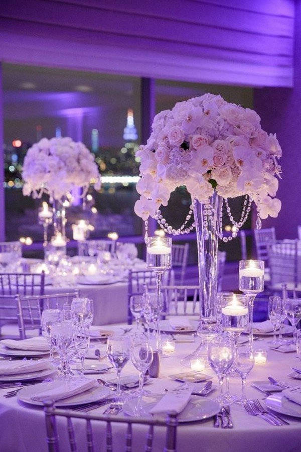 elegant tall wedding centerpiece ideas