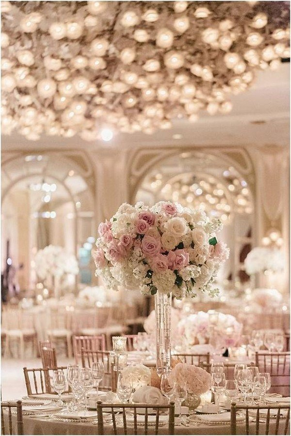 trending tall elegant wedding centerpiece ideas