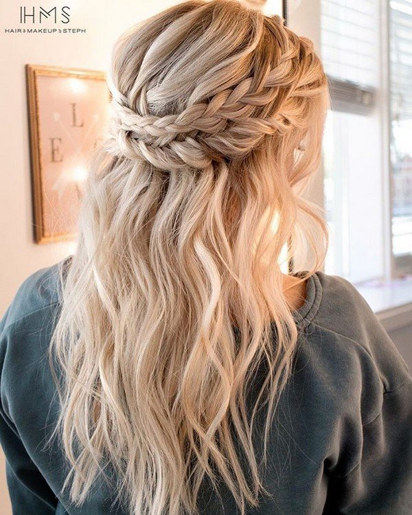 Half Up Wedding Hair Ideas: 20 Inspiring Wedding Hairstyles From Steph On Instagram