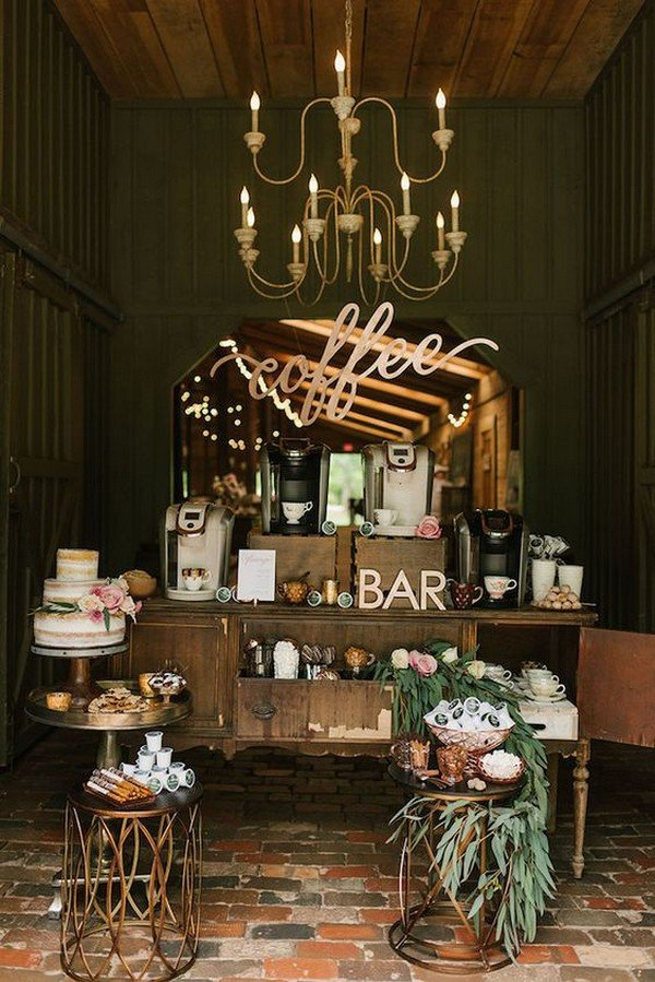 wedding coffee bar display ideas