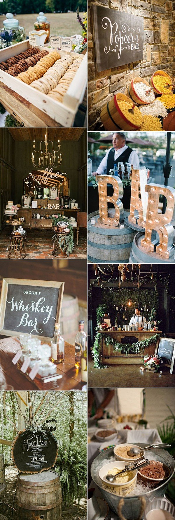 wedding reception bar for 2018 trends