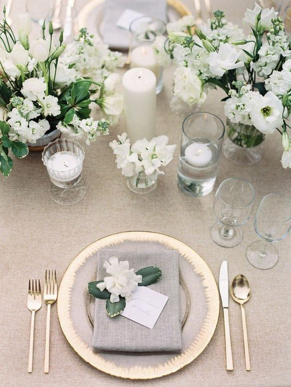 Wedding trends 2018 archives oh best day ever white and green elegant wedding centerpieces for 2018 junglespirit Image collections
