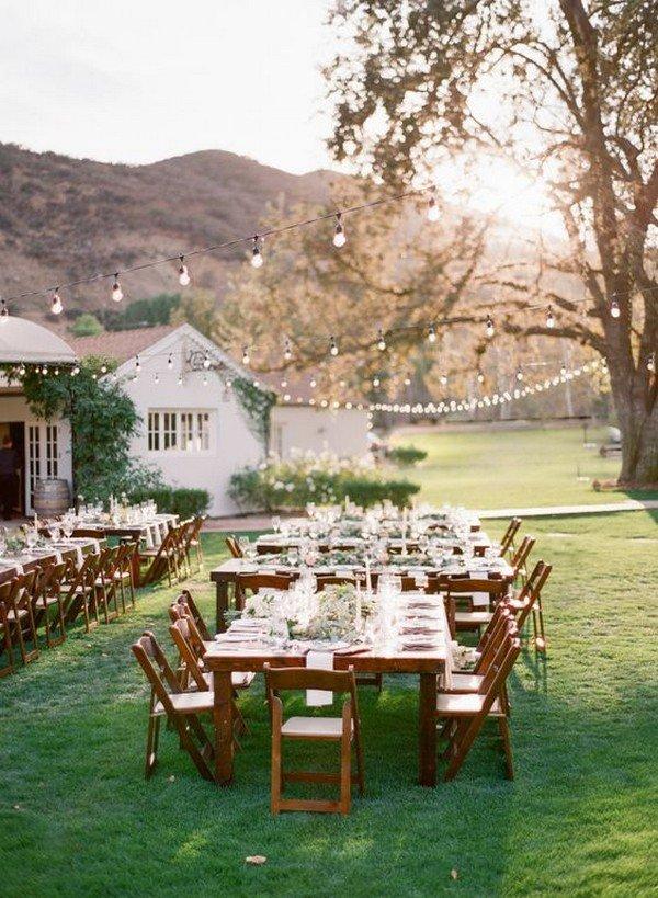 chic vineyard themed wedding reception ideas