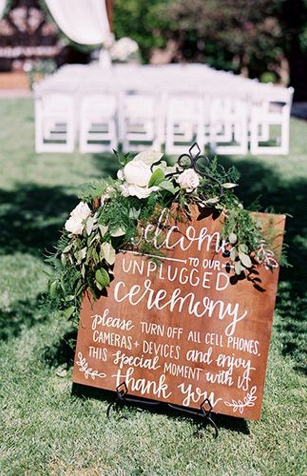 chic wedding ceremony decoration ideas