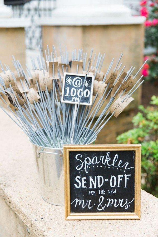 sparklers send off wedding signs