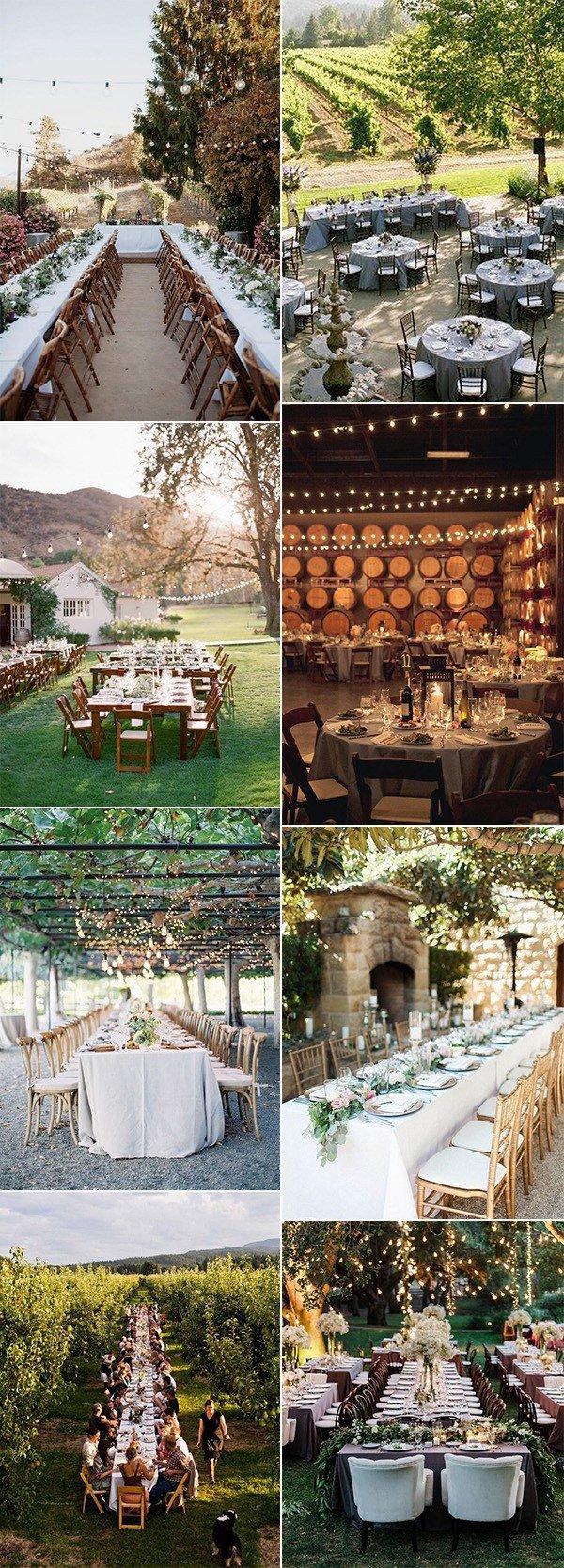 trending vineyard themed wedding reception ideas
