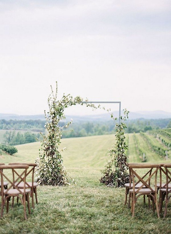 vineyard themed wedding ceremony arch ideas