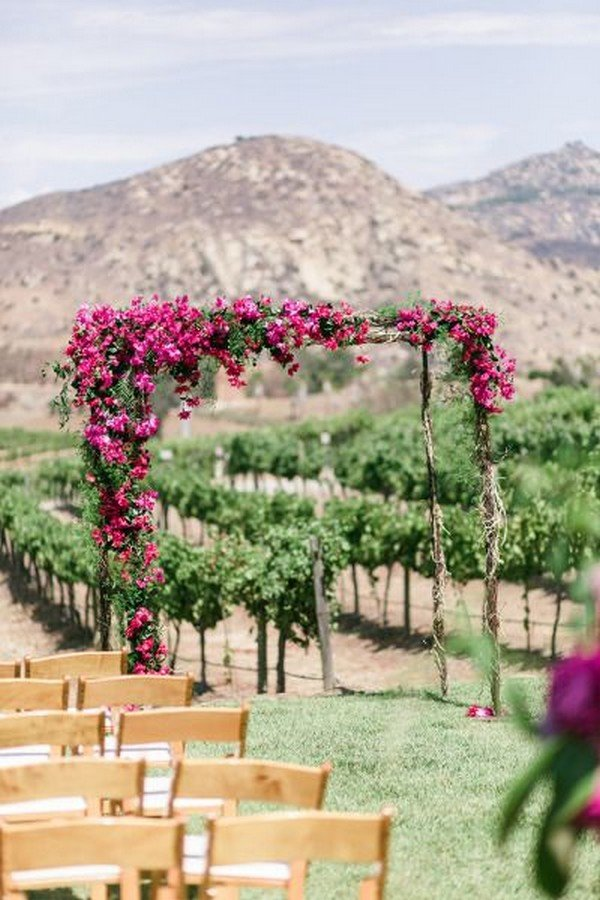 vineyard themed wedding ceremony ideas