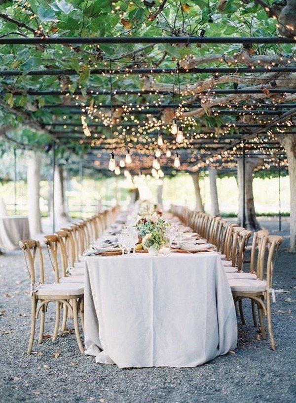 vineyard themed wedding reception