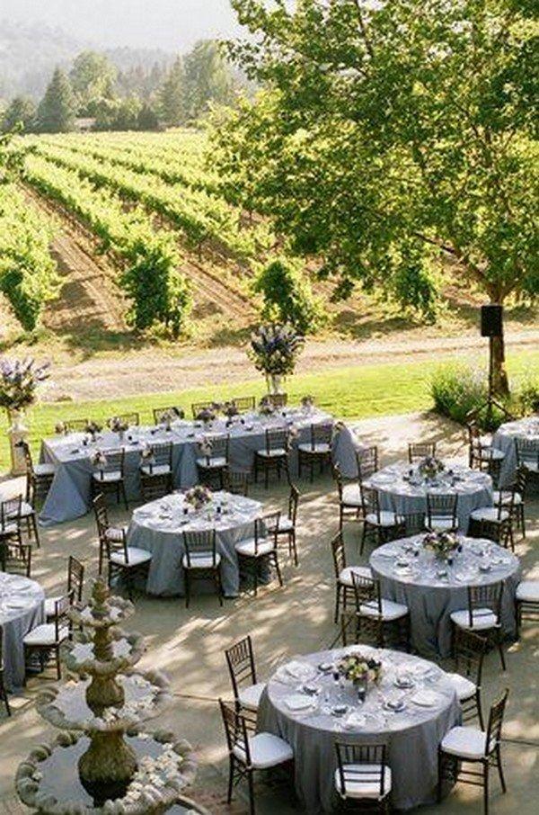 vineyard themed wedding table arrangement ideas