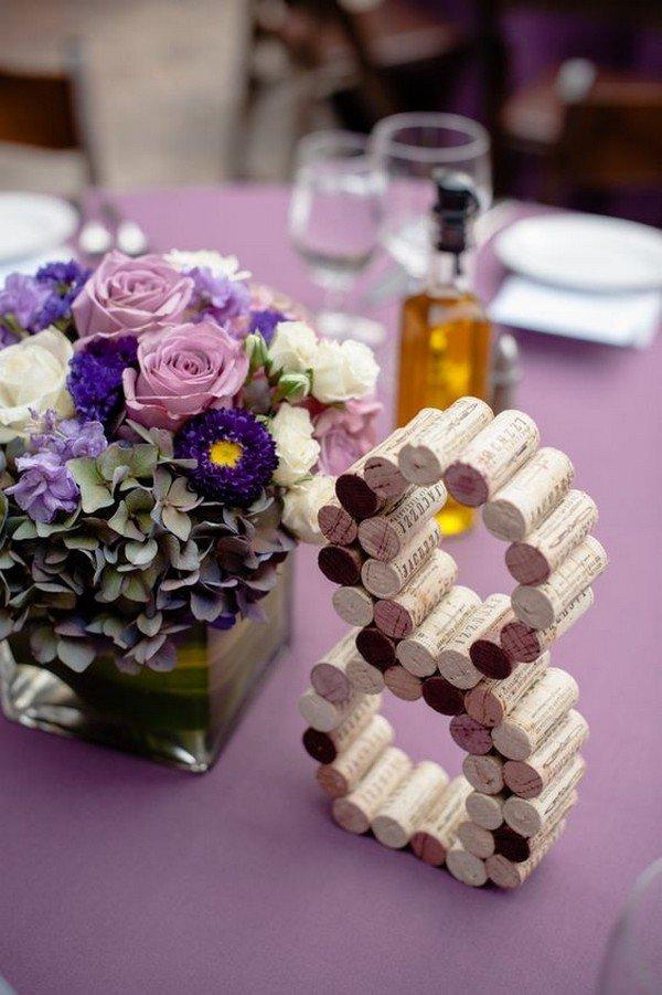 wedding centerpiece ideas with wine corks