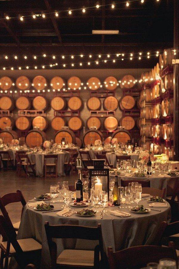 wine themed wedding reception ideas