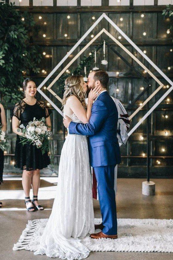 geometric romantic wedding backdrop