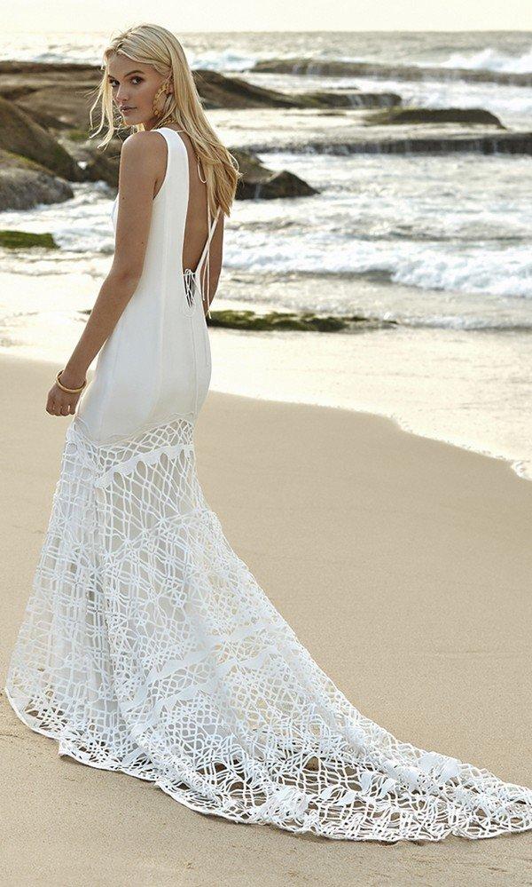 Gigi Galaxy Rue De Seine lace wedding dress back view