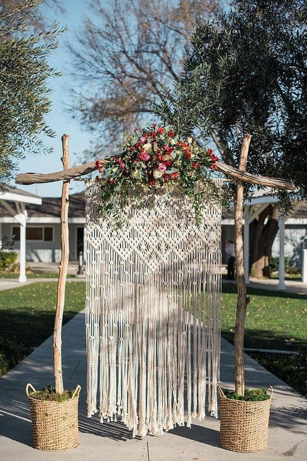 boho chic wedding arch ideas
