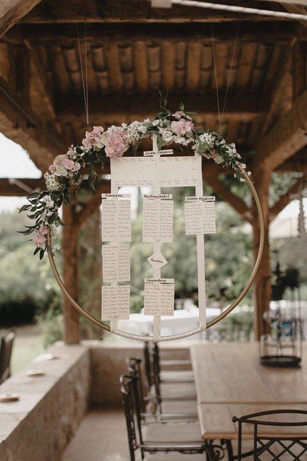 boho themed wedding seating table chart