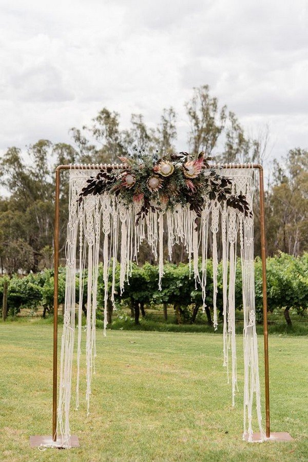 boho wedding arches for outdoor wedding