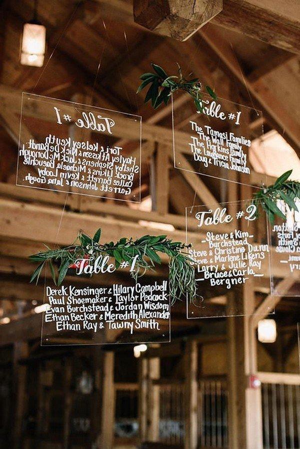 creative hanging wedding seating chart