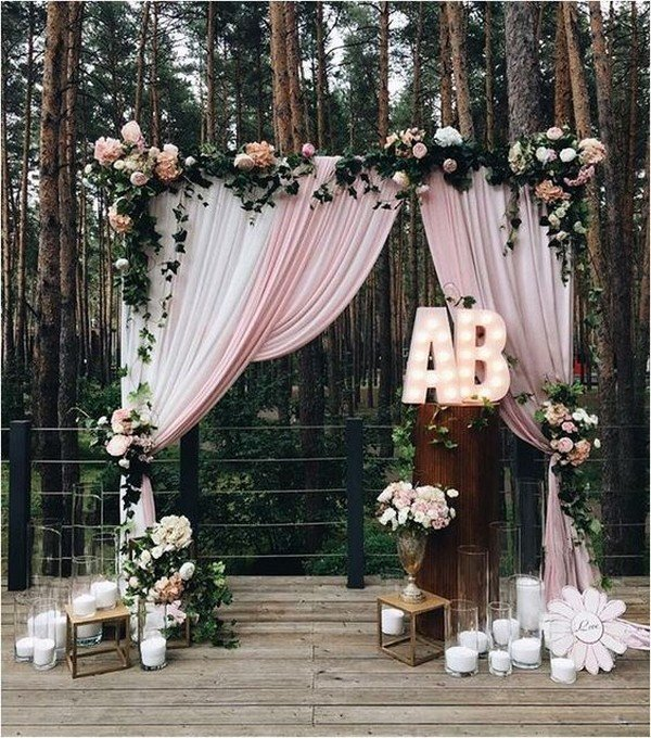 pink wedding photobooth backdrop ideas