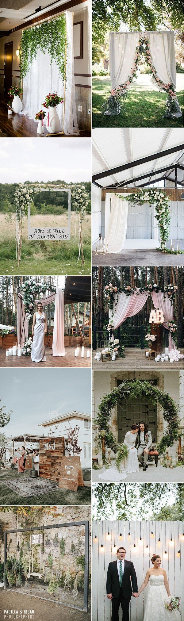 trending wedding photo booth backdrop ideas