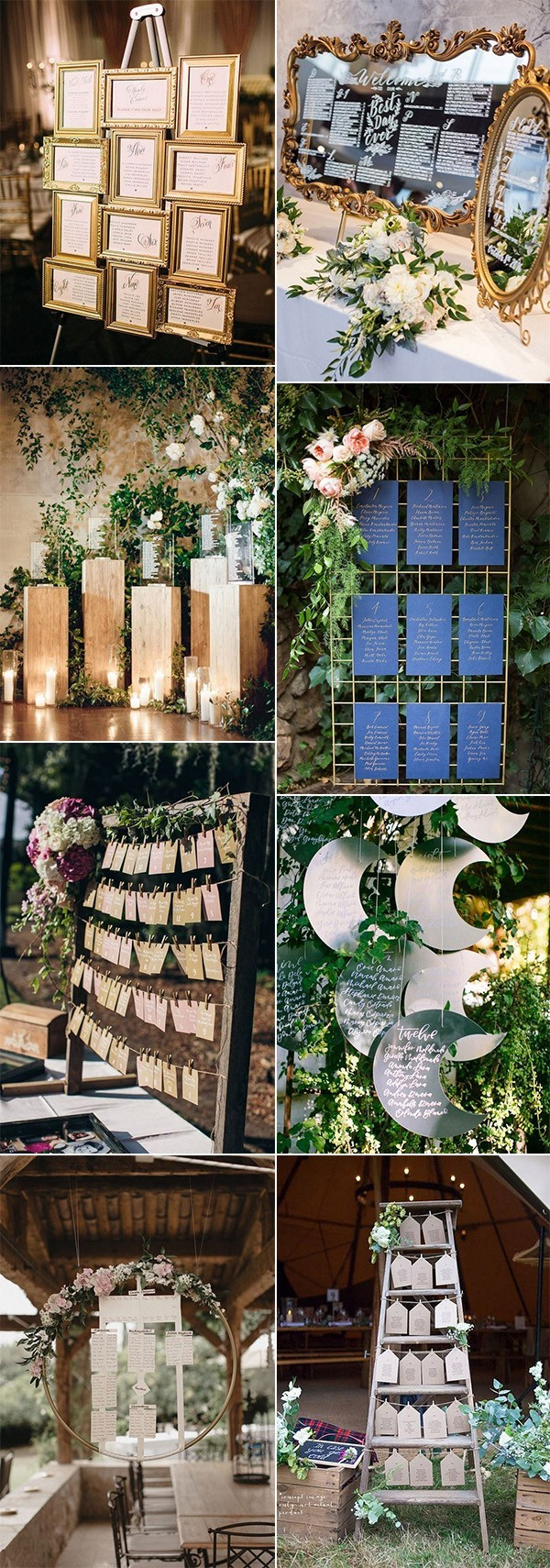 trending wedding reception seating chart decoration ideas