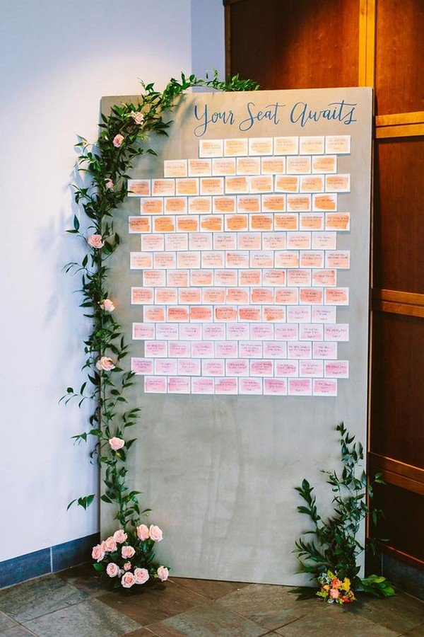 watercolor wedding seating chart ideas