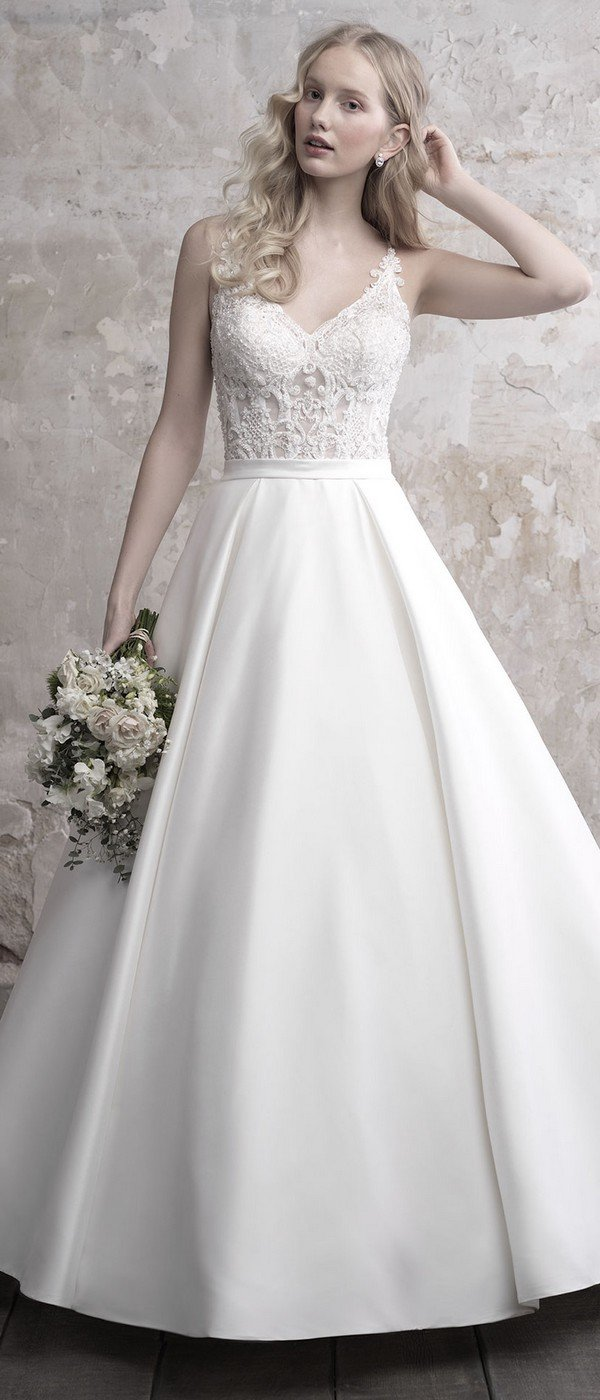 Madison James strappy ballgown wedding dress 2018 collection