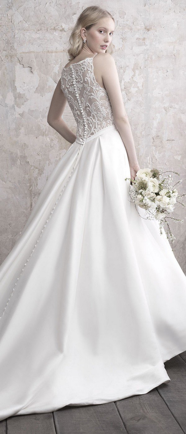 Madison James strappy ballgown wedding dress back view 2018 collection