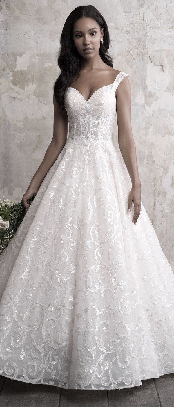 Madison James strappy sweetheart wedding ball gown