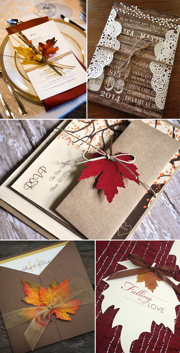 Fall wedding ideas archives oh best day ever maple leaves inspired rustic fall wedding invitations filmwisefo