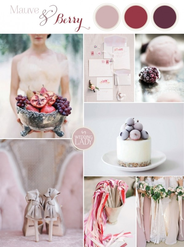 mauve and berry fall wedding color ideas