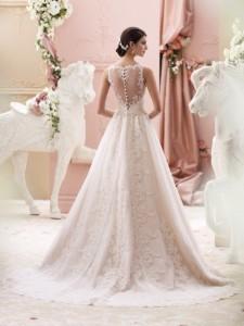 David Tutera illusion sleeveless long wedding dresses