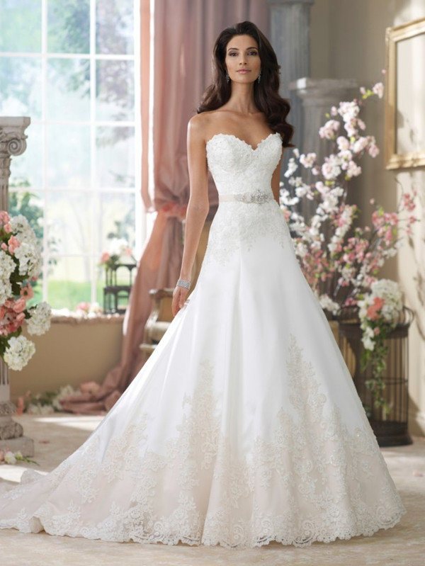 David Tutera strapless long wedding dresses