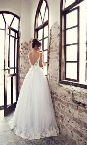 Julie Vino backless stunning lace wedding dresses