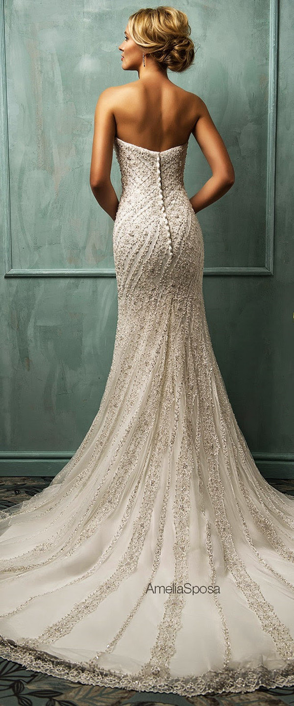amelia sposa vintage sequins mermaid long wedding dresses