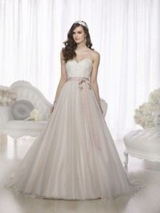 essense of australia a line long wedding dresses with ribbon