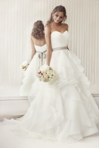 essense of australia strapless long wedding dresses
