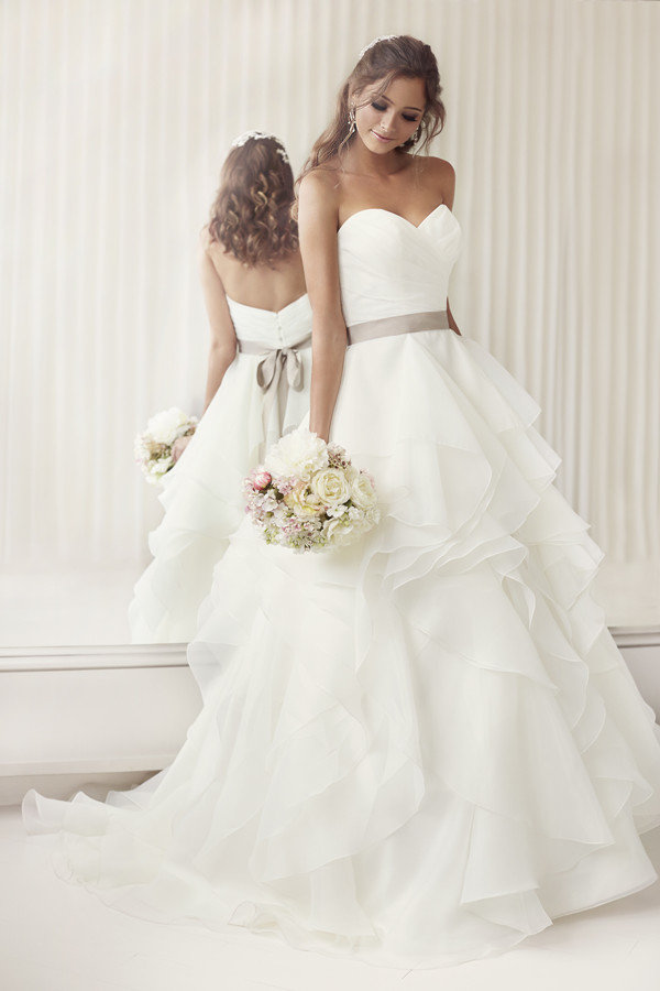 essense of australia strapless long wedding dresses