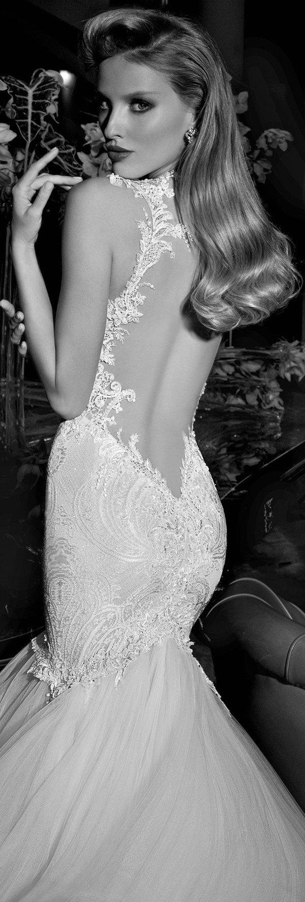 galia lahav sexy backless mermaid long wedding dresses
