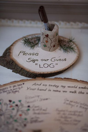 wooden guest books for a perfect country rustic wedding