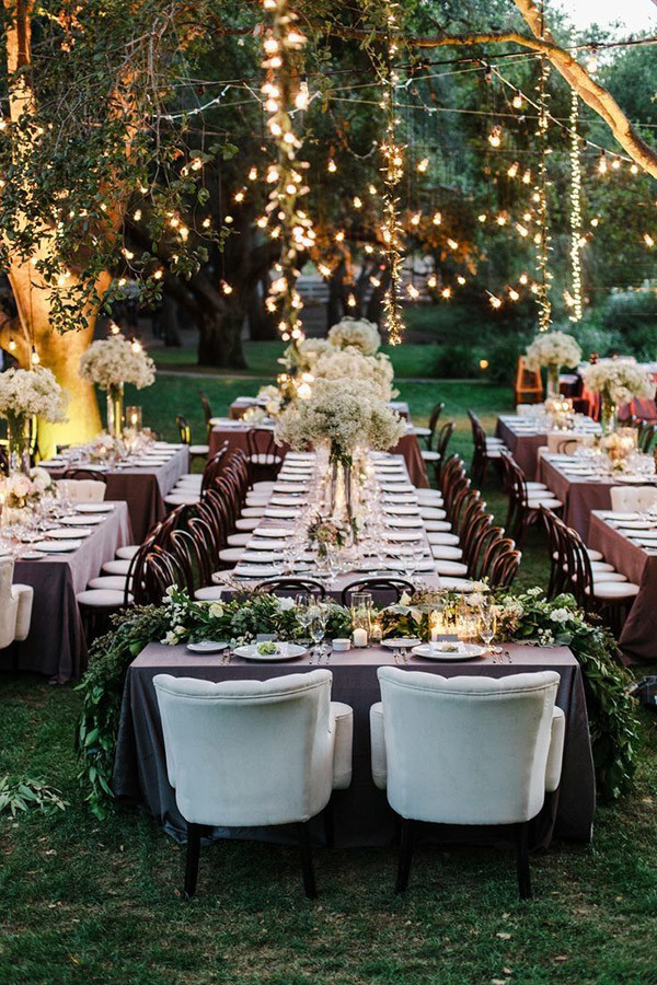Backyard Wedding Receptions rustic elegance backyard wedding reception ideas with string lights