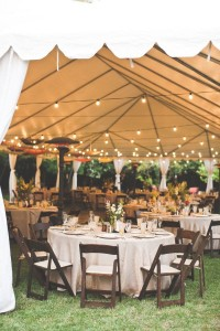 rustic themed outdoor tant wedding reception ideas