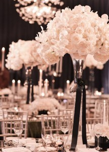 whimsical pink and black wedding reception ideas