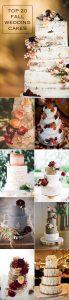 2016 trending top fall wedding cakes for autumn wedding ideas